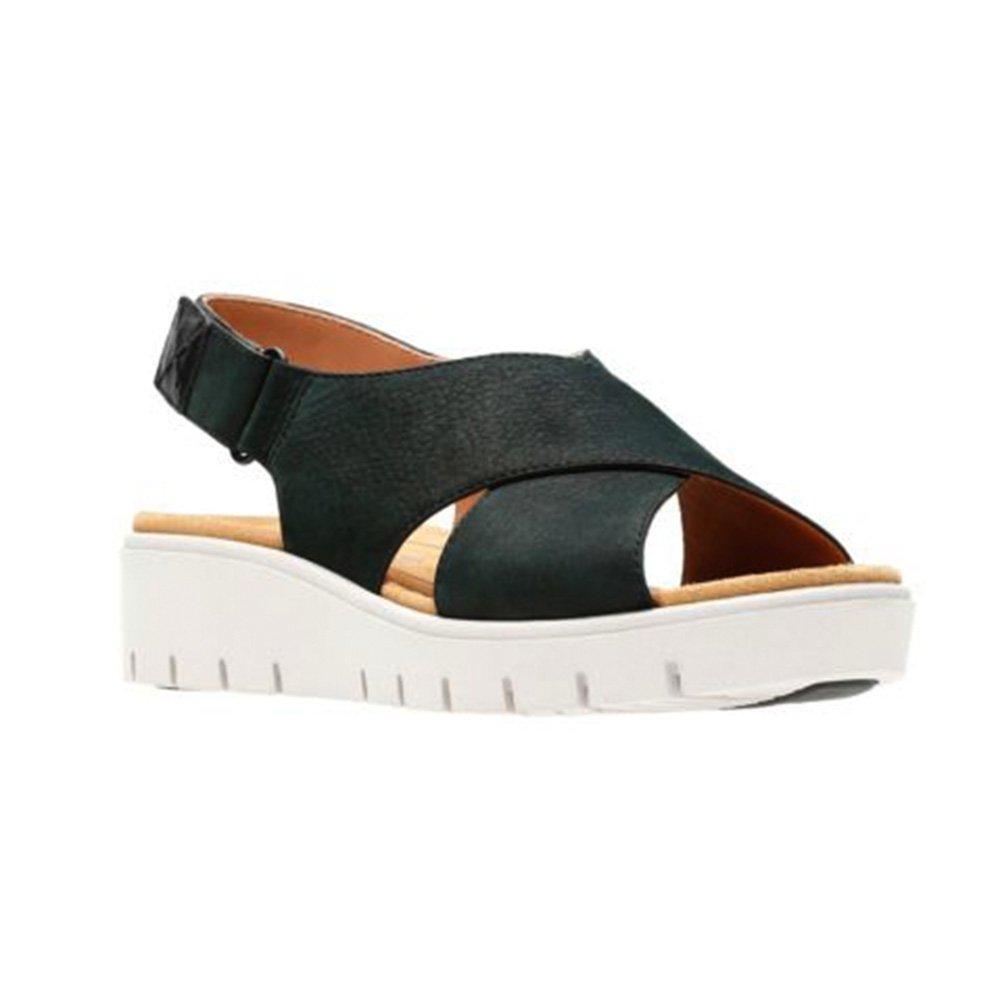 CLARKS Womens Un Karely Hail Sandal B074P6T44Y 7.5 M US|Black Nubuck
