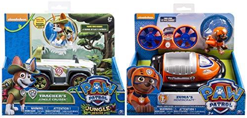 Paw Patrol, Jungle Rescue, Tracker's Jungle Cruiser, Zuma's Hovercraft, Vehicle and Figure. Includes Blizy Pen (Paw Patrol Jungle Rescue Trackers Jungle Cruiser)