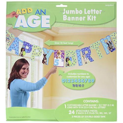Amscan Beanie Boos Add An Age Letter Banner