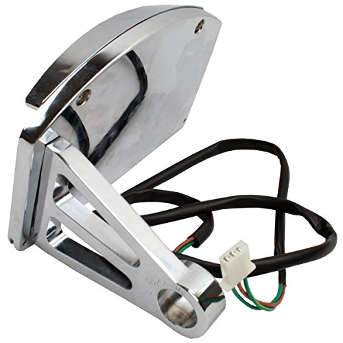 XMT-MOTO New Side Mount LED License Bracket Plate Tail Light For Chopper Harley Softail by XMT-MOTO (Image #3)