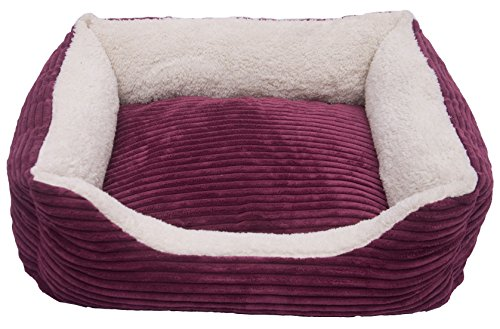 - Iconic Pet Luxury Lounge Pet Bed, Small, Imperial Purple