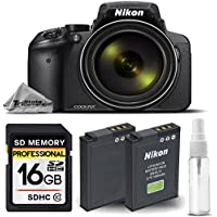 Nikon COOLPIX P900 Digital Camera 83x Optical Zoom Built-In Wi-Fi, NFC and GPS + 16GB SDHC CLASS 10 Memory Card + Replacement Battery for Nikon EN-EL23 - International Version
