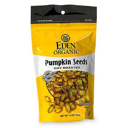Eden Foods Dry Roasted Pumpkin Seeds, Original 4 oz (113 - Roasted Seeds Pumpkin Eden