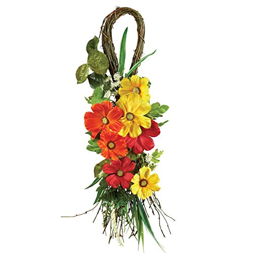 Tropical Faux Floral Decor Multi
