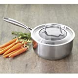 CHEFS Tri-Ply Stainless Steel Saucepan with Lid: 3