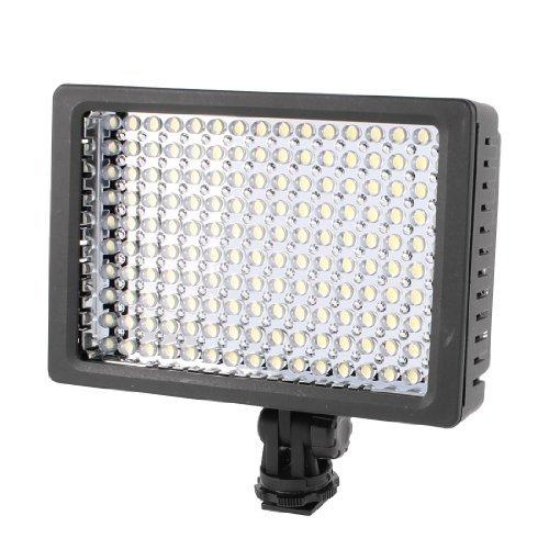 eDealMax Lmpara de luz HD-160-LED de la batera Para la videocmara de la cmara de vdeo