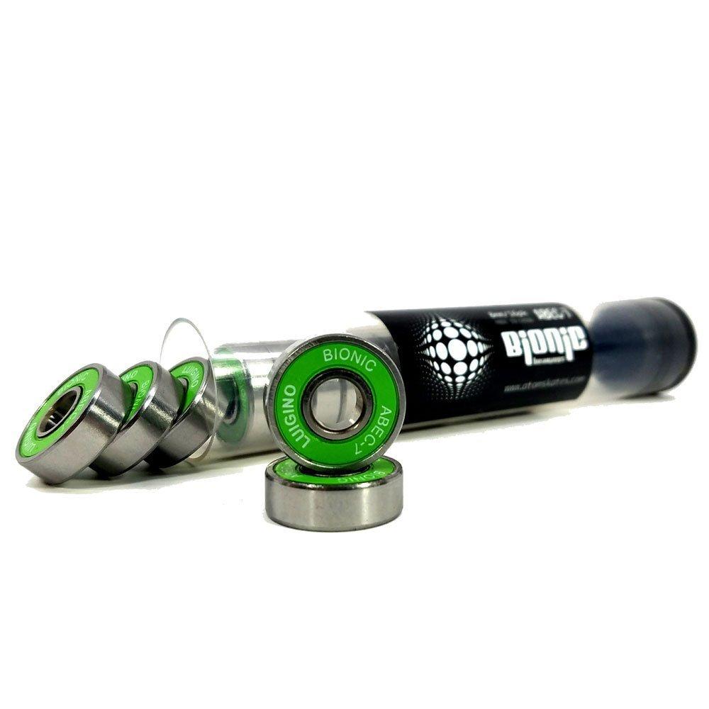 Atom Poison Savant Wheels with Bionic Bearings 8mm Full Set of 8 - Pink by Atom Skates