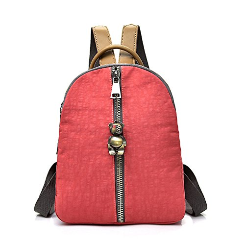 Oxford Cloth Backpack Fashion Bag Canvas Leisure Bolsa De Viaje Watermelonred