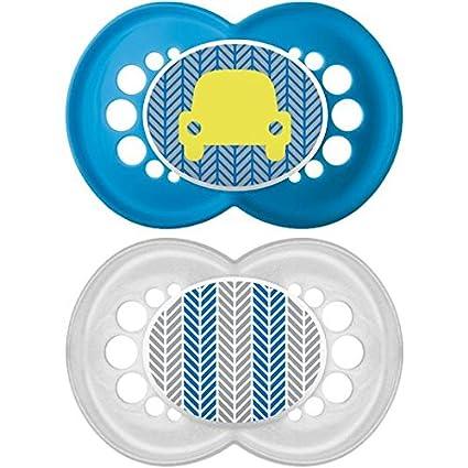 MAM originales 12+ Meses Chupete, azul 2 por paquete: Amazon ...