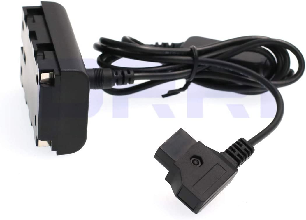 DRRI NP-F Dummy Battery DC Coupler Dtap Adapter Cable for Sony NP-F970 F960 F770 F750 F550
