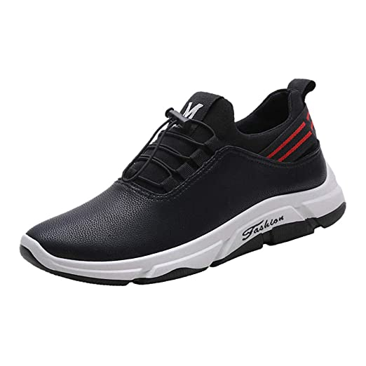 kaifongfu Sport Shoes Men Comfortable Footwears Sneaker Shoes(Black,39)