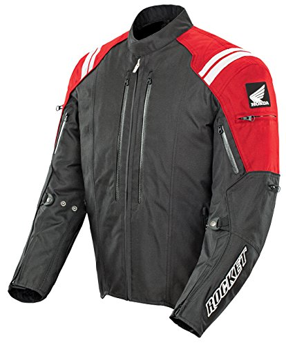 (Joe Rocket CBR Mens Red/Black Textile Motorcycle Jacket - X-Large)