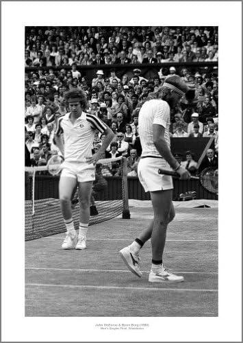 Bjorn Borg Tennis Wimbledon Winner POSTER Knees