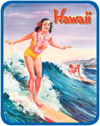 Hawaiian Art Decal Car Window Bumper Sticker Libbys Surfer Girl