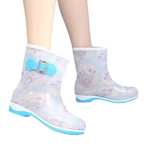 Principessa Stivali di Gomma Antiscivolo Impermeabile Neve