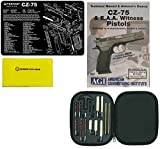Ultimate Arms Gear Gunsmith & Armorer's Cleaning Work Bench Gun Mat CZ 75 CZ-75 + Professional Cleaning Tube Chamber Care Supplies Kit Deluxe 17 pc Handgun Pistol Cleaning Kit for .22 .357 .38 9mm .44 .45 Caliber Brushes, Swab, Slotted Tips and Patches + American Gunsmithing Institute Pistols Armorer's Course + Gun Care and Reel Silicone Cleaning Cloth