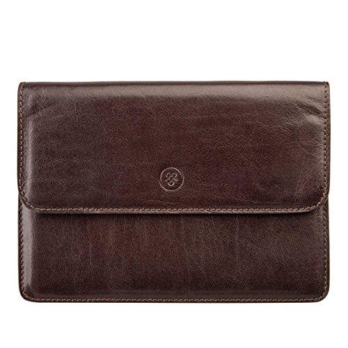 Maxwell Scott Personalized Luxury Brown Leather Travel Wallet (Torrino) by Maxwell Scott Bags