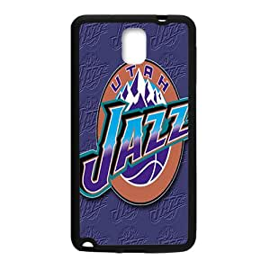 Utah Jazz NBA Black Phone Case for Samsung Galaxy Note3 Case