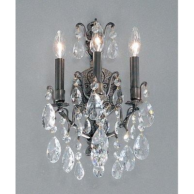 (Classic Lighting 9001 AB S Versailles, Crystal, Sconce/WallBracket, 8