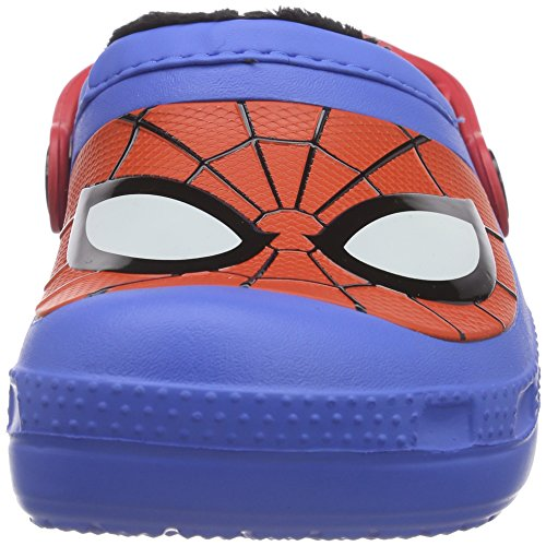 crocs CC Spiderman Lined Jungen Clogs Blau (Varsity Blue)
