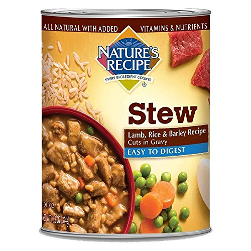 Nature's Recipe Easy to Digest Lamb, Rice & Barley Recipe Cuts in Gravy Canned Dog Food