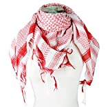 Premium Shemagh Head Neck Scarf - Red/White