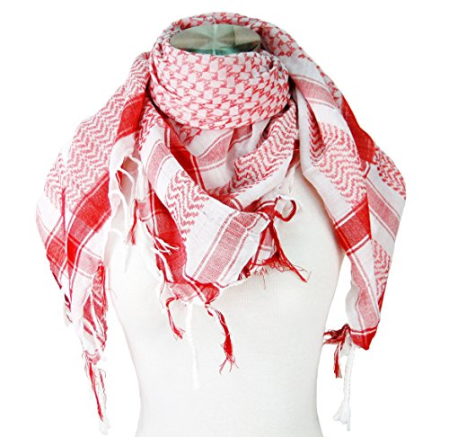 Premium Shemagh Head Neck Scarf - - Scarf Long Knit Stripe