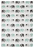 MUkitchen 6629-1868 Kitchen Designer Print Towel, 20'' x 30'', Elephants