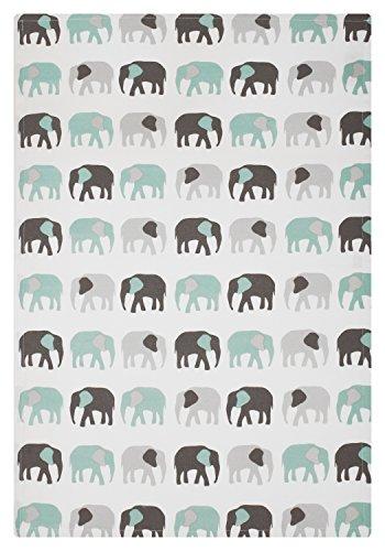 MUkitchen 6629-1868 Kitchen Designer Print Towel, 20'' x 30'', Elephants by MUkitchen