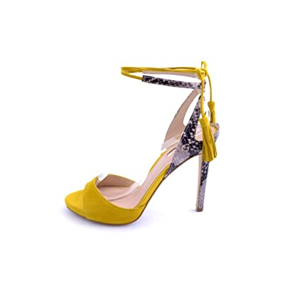 410521509f3609 Guess , Sandales pour femme jaune jaune - jaune - jaune, 41 EU EU ...