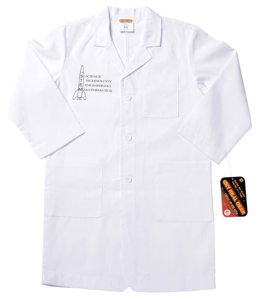 size 4//6 STEM Lab Coat 3//4 Length White Aeromax Jr