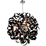Artcraft Lighting AC602BK Bel Air 12 Light Pendant, Black