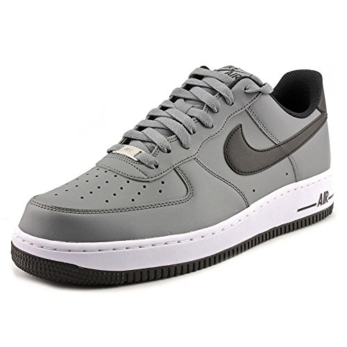 NIKE Men's Air Force 1 Cool Grey/Black/White Basketball Shoe 8 Men ()