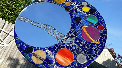 Mosaic Mirror - Astral, Universe and Planets - Solar System by ArtMosaicsVetro