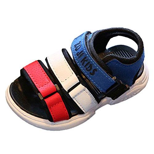 Scothen Sandalias playa verano Cerrado zapatos para caminar ultraligero calzado transpirable planas unisex niños de las muchachas de los niños cómodos del deporte aire deslizadores sandalias Blue