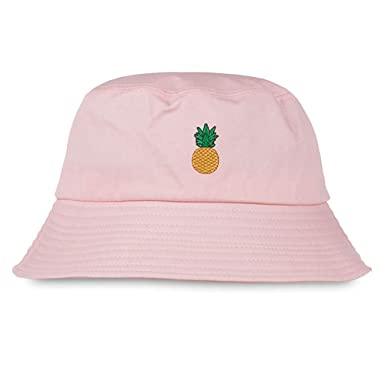 584372fbd86 GUSTAVE Bucket Hat Casual Style Fruits Embroidery Print Women Men Cap (Pink)   Amazon.in  Clothing   Accessories