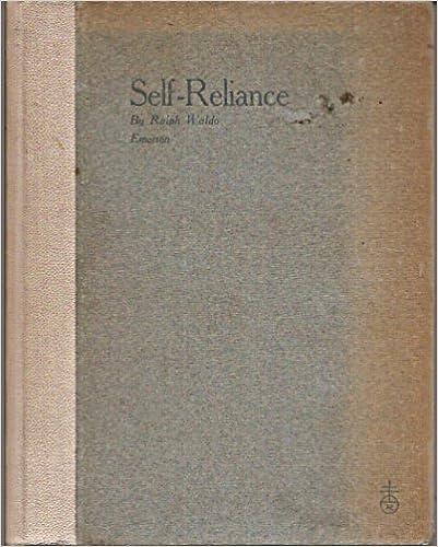 Amazoncom The Essay On Selfreliance Ralph Waldo Emerson Books The Essay On Selfreliance First Edition Edition