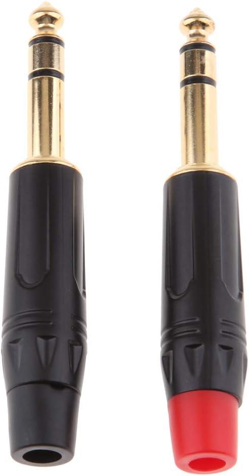 Gazechimp 1 Paar 6,35 Mm Klinkenstecker Stecker Connector 3 Polig L/ötversion F/ür DIY