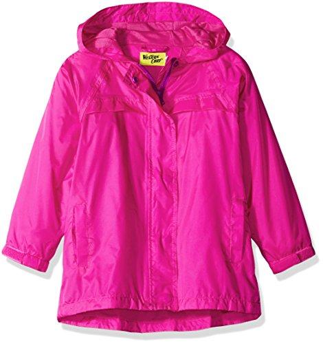 Western Chief Girls Rain Coat, Solid Pink, 7 (Pink Girls Coat)