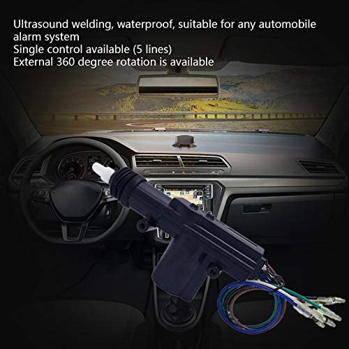 Furobayuusaku 12V Door Power Central Lock Kit with 2 Wire Actuator for Auto Vehicle