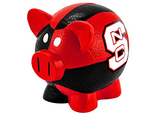 FOCO North Carolina State Resin Small Thematic Piggy Bank (Baseball College Wolfpack)