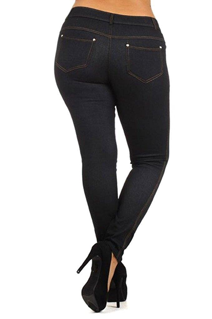 33f22e0f106 Amazon.com  Plus Size Jeggings for Women Denim Legging Tights with ...