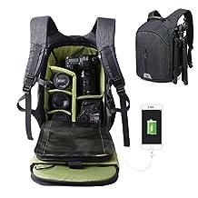 Camera Bag Backpack Hiking Travel Bag Large Capacity Waterproof SLR DSLR Camera Shoulder Bags Backpack Rucksack for Nikon Canon Fujifilm Sony Digital SLR, Mirrorless Camera(Dark Blue)