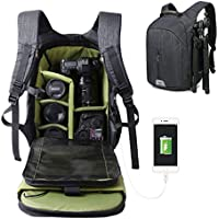 Large Capacity Camera Bag Backpack Waterproof Hiking Travel Bag SLR DSLR Camera Shoulder Bags Backpack Rucksack for Nikon Canon Fujifilm Sony Digital SLR, Mirrorless Camera