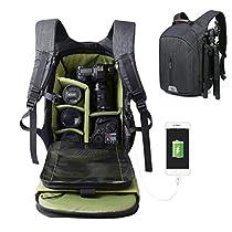 Camera Bag Large Capacity Camera Backpack Waterproof Hiking Backpack