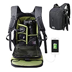 Large Capacity Camera Bag Backpack Waterproof Hiking Travel Bag Slr Dslr Camera Shoulder Bags Backpack Rucksack For Nikon Canon Fujifilm Sony Digital Slr, Mirrorless Camera
