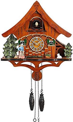 Kintrot Cuckoo Clock Black Forest Chalet Quartz Clock Wooden Handcrafted Wall Clock