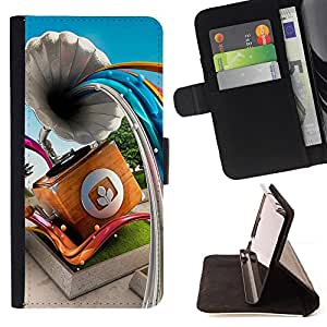Jordan Colourful Shop - Gramophone Abstract Lines For Apple Iphone 5 / 5S - Leather Case Absorci???¡¯???€????€?????????&At