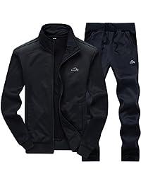 7ba63d0ee26 Men s Athletic Tracksuit Full Zip Warm Jogging Sweat Suits