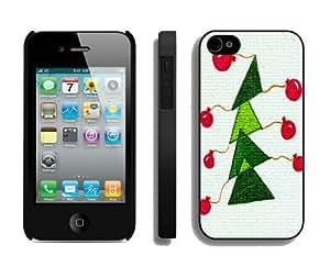 Diy Design Christmas tree iPhone 4 4S Case 11 Black